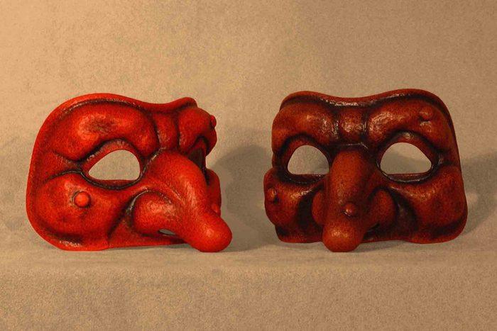 Masque Commedia Dell'Arte Polichinelle Classique