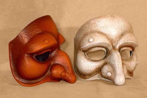Masque Commedia Dell'Arte Polichinelle Lunaire