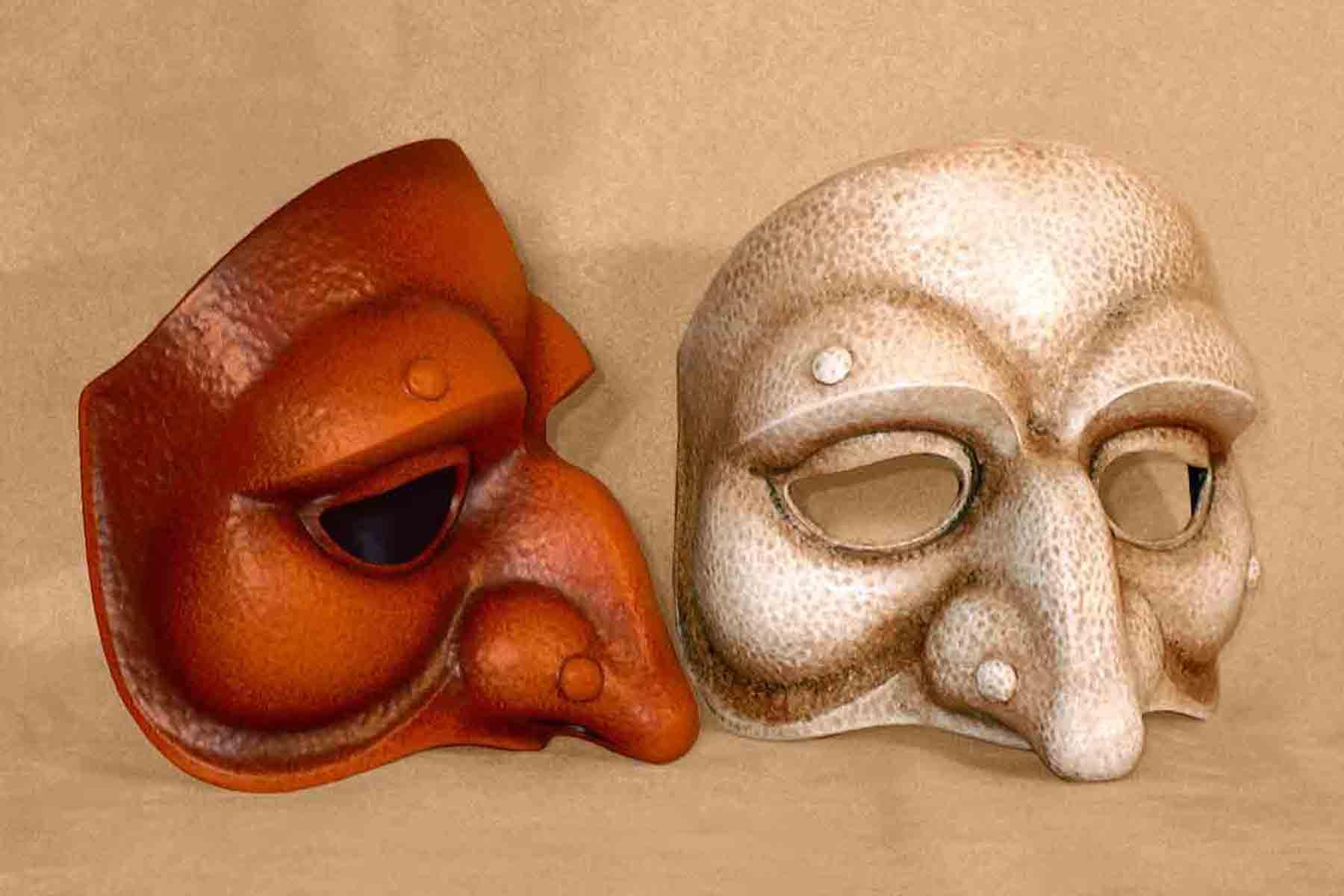 Masque Commedia Dell'Arte Polichinelle Lunaire