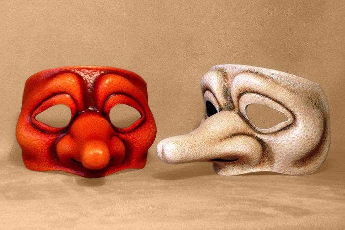 Masque Commedia Dell'Arte Zanni Ingénu