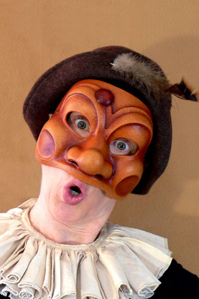 Masque Comedia Dell'Arte Arlequin Traditionnel
