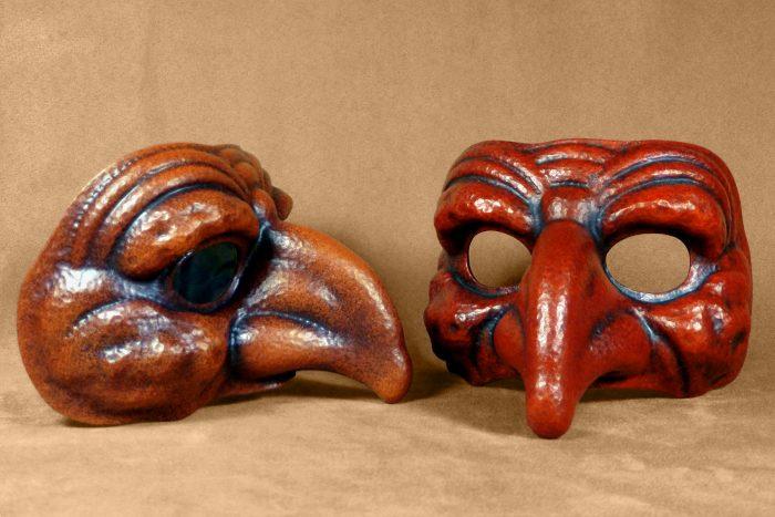 Masque Comedia Dell'Arte Polichinelle Fourbe