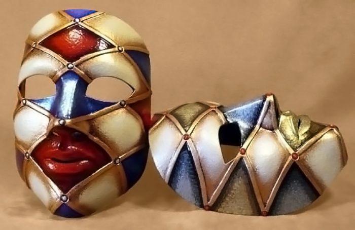 Masque Carnaval Neutre Arlequin