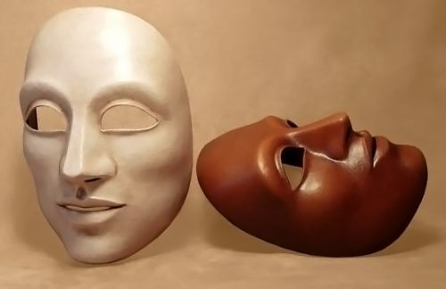 Masque theatre grand neutre