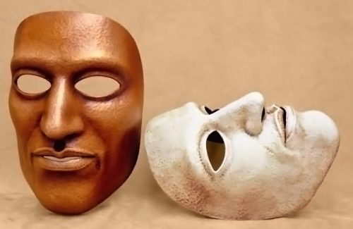 Masque theatre homme