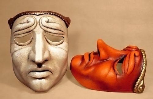 Masque théâtre Jean qui pleure