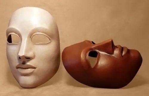 Masque theatre moyen neutre