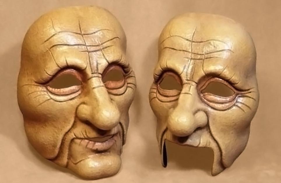 Masque theatre vieil homme